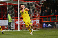 Frustration for Patrick Madden of Fleetwood Town after a missed chance during Crawley Town vs Fleetwood Town, Emirates FA Cup Football at Broadfield Stadium on 1st December 2019