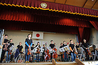 Sendai, Miyagi Prefecture, Japan, May 1, 2011.The Tokyo Sinfonia travelled to Miyagi Prefecture in north east Japan to performing for victims of the March 11 2011 earthquake and Tsunami.