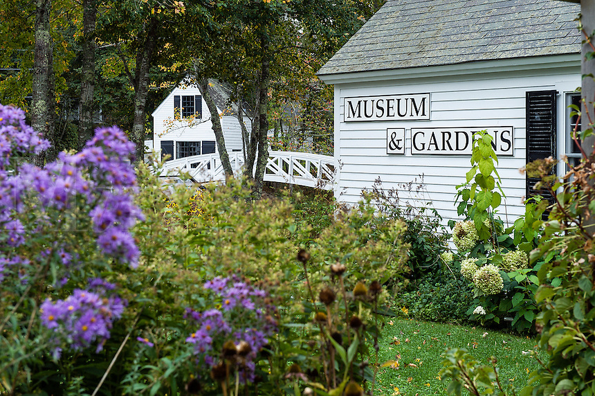 Footbridge and museum, Somesville, Mount Desert Island, Maine, USA