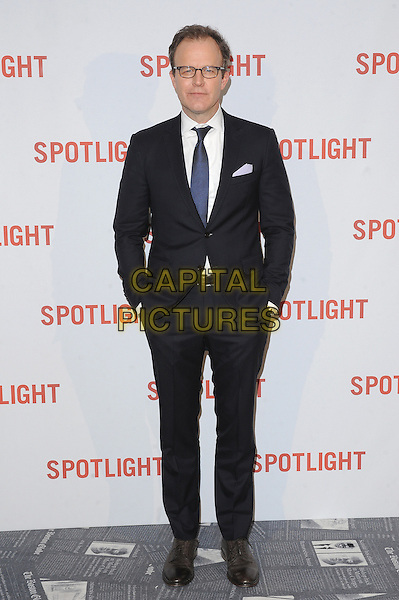 LONDON, ENGLAND - JANUARY 20: Tom McCarthy attends the UK Premiere of Spotlight at the Washington Hotel and Curzon Mayfair on January 20, 2016 in London, England.<br /> CAP/BEL<br /> &copy;Tom Belcher/Capital Pictures