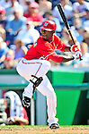 25 September 2010: Washington Nationals outfielder Roger Bernadina in action against the Atlanta Braves at Nationals Park in Washington, DC. The Braves shut out the Nationals 5-0 to even their 3-game series at one win apiece. The Braves' victory was the 2500th career win for skipper Bobby Cox. Cox will retire at the end of the 2010 season, crowning a 29-year managerial career. Mandatory Credit: Ed Wolfstein Photo