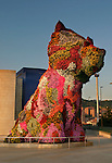 Jeff Koons Puppy in front of Frank Gehry's Guggenheim in Bilbao, Spain
