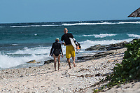 Namotu Island Resort, Nadi, Fiji (Sunday, February 11 2018): The surf was in the 2' range on a short period wind swell this morning with strong SE winds. The surf was onshore at most breaks and some guests had a session at Namotu Lefts before the tide got too low. There was also an after session in similar conditions. The was a big bonfire on the beach with sunset drinks.   Photo: joliphotos.com