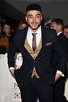 Jurrell Carter<br /> arriving for the National TV Awards 2020 at the O2 Arena, London.<br /> <br /> ©Ash Knotek  D3550 28/01/2020