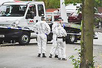 Sparkbrook Shooting ~ Ikram Elahi murder, Anderton Road / Grantham Road<br /> Forensic scene