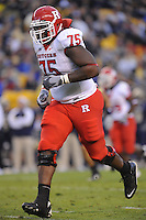 25 October 2008:  Rutgers T Anthony Davis (75)..The Rutgers Scarlet Knights defeated the Pittsburgh Panthers 54-34 October 25, 2008 at Heinz Field in Pittsburgh, PA..