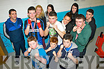 St Margaret's boxing club, Tralee who attended the Co Kerry boxing championships last Saturday afternoon at Sliabh Luachra boxing club, Castleisland were l-r: Shane McCarthy, Batty and Robert Coffey, Sean O'Leary (head coach), Denis and Chelsea Moriarty, Evelina Ronan, Keith Moriarty, Kay O'Leary (coach), Atlanta Moriarty, Darren Daly and Aaron Crean