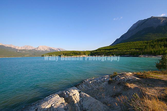 ABRAHAM LAKE & Mt. Michner, JASPER NATIONAL PARK, ALBERTA,CANADA