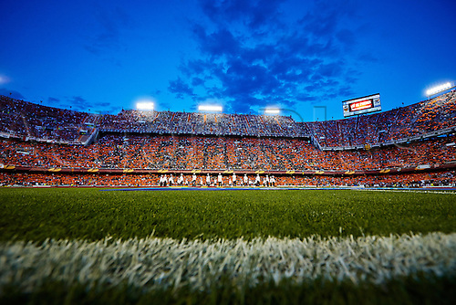 01.05.2014 Valencia, Spain. Mestalla Stadium  during the Europa Leauge Semi Finals between Valencia CF and Sevilla CF  at Mestalla stadium, Valencia