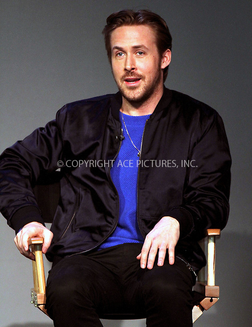 WWW.ACEPIXS.COM<br /> <br /> April 11 2015, New York City<br /> <br /> Actor and director Ryan Gosling made an appearance at the Apple Store in Soho on April 11 2015 in New York City<br /> <br /> By Line: Nancy Rivera/ACE Pictures<br /> <br /> <br /> ACE Pictures, Inc.<br /> tel: 646 769 0430<br /> Email: info@acepixs.com<br /> www.acepixs.com