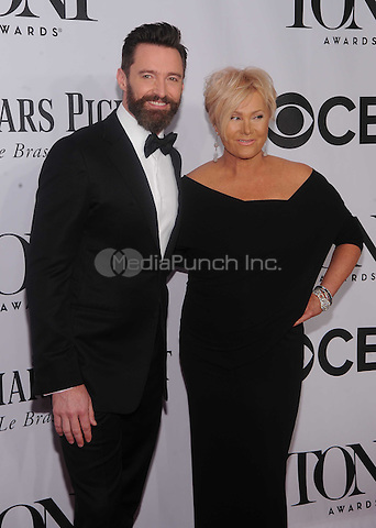 New York, NY- June 8: Hugh Jackman and Deborra Lee Furness attend the American Theater Wing's 68th Annual Tony Awards on June 8, 2014 at Radio City Music Hall in New York City. (C)  Credit: John Palmer/MediaPunch