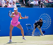 June 15th 2017, Nottingham, England; WTA Aegon Nottingham Open Tennis Tournament day 6;  Yanina Wickmayer of Belgium in action win round two against Johanna Konta of Great Britain