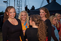 The dancers waiting to get on the stage. Closing ceremony at the jamboree. Photo: Kim Rask/Scouterna