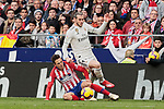Atletico de Madrid's Santiago Arias and Real Madrid's Gareth Bale during La Liga match between Atletico de Madrid and Real Madrid at Wanda Metropolitano Stadium in Madrid, Spain. February 09, 2019. (ALTERPHOTOS/A. Perez Meca)