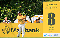 Kiradech Aphibarnrat (THA) in action on the 8th tee during Round 2 of the Maybank Championship at the Saujana Golf and Country Club in Kuala Lumpur on Friday 2nd February 2018.<br /> Picture:  Thos Caffrey / www.golffile.ie<br /> <br /> All photo usage must carry mandatory copyright credit (&copy; Golffile | Thos Caffrey)