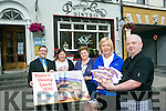 Launching the Tralee Dining Guide on Friday were, front left: Nuala Dawson (Dawsons Restuarant), Michael McDonald (Denny Lane), Back l-r John Drummey (Tralee Chamber Alliance) Christina Dureke (Tralee Chamber Alliance), Trina Houlihan (Tralee Chamber Alliance)<br /> <br /> New edition of Dining in Tralee Booklet offers diners tasty choices along the Wild Atlantic Way<br /> <br /> TRALEE has great taste and the 2016 Dining in Tralee Booklet, a new guide to where to eat in Ireland&rsquo;s Best Large Tourism Town, has been is now available to locals and visitors.<br /> <br /> Published by Tralee Chamber Alliance, the guide features nearly 40 restaurants, caf&eacute;s, bistros and pubs in the Tralee and surrounding area offering visitors and locals an insight into the great choice and variety to suit all palates &ndash; young and old &ndash; all year round.<br /> <br /> The second edition of the Dining in Tralee Booklet is a one-size-fits-all directory with contact details of all participating eateries and hostelries.<br /> <br /> The President of Tralee Chamber Alliance, John Drummey, said: &ldquo;Tralee is Ireland&rsquo;s Best Large Tourism Town which is already the perfect appetiser to a meal in the town. This new booklet will help to better inform the local population about where they can grab a quick bite or enjoy a late night meal. We hope it will remind the people of Tralee that the hospitality sector is for them as much as it is for tourists.&rdquo;<br /> <br /> The 2016 Dining in Tralee Booklet is available from Tralee Chamber Alliance, Tralee Tourist Information Kiosk, Tralee Tourist Office, all Hotels and featured dining outlets in the booklet.