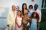 Russell Simmons, Ming Lee Simmons, Kimora Lee Simmons, Kenzo Lee Hounsou, Aoki Lee Simmons and Djimon Hounsou  Attend Russell Simmons' 12th Annual Art for Life East Hampton Benefit, NY 7/30/11