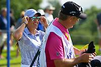 Maria Fassi (MEX) shares a laugh with her caddie as they head down 12 during the round 1 of the KPMG Women's PGA Championship, Hazeltine National, Chaska, Minnesota, USA. 6/20/2019.<br /> Picture: Golffile | Ken Murray<br /> <br /> <br /> All photo usage must carry mandatory copyright credit (© Golffile | Ken Murray)