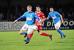 2015-10-31 / Voetbal / seizoen 2015-2016 / Hoogstraten VV - Tempo Overijse / Jeroen Steenwegen (l. Tempo Overijse) met Nick Van Huffel<br /><br />Foto: Mpics.be