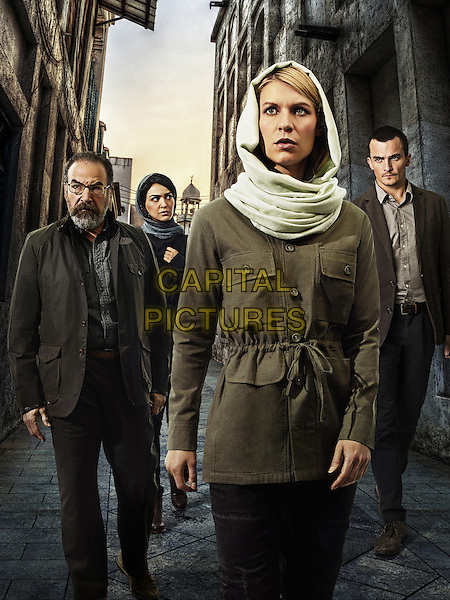 Homeland (2011-)<br /> (Season 4)<br /> Mandy Patinkin, Nazanin Boniadi, Claire Danes, Rupert Friend <br /> *Filmstill - Editorial Use Only*<br /> CAP/FB<br /> Image supplied by Capital Pictures