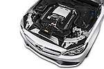 Car Stock 2016 Mercedes Benz C-Class AMG-C63-S 4 Door Sedan Engine  high angle detail view