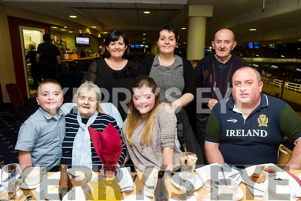 Eva Lynch, Killarney, celebrates her confirmation with family at the Kingdom Greyhound Stadium on Friday Pictured  Front l-r Cian Lynch, Judy Ryan, Eva Lynch, Ger Lynch. Back l-r Mary Lynch, Noreen Ryan and Christopher Ryan