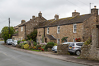 UK, England, Yorkshire.  Village Houses, Grinton.
