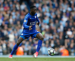 Wilfred Ndidi of Leicester City during the English Premier League match at the Etihad Stadium, Manchester. Picture date: May 13th 2017. Pic credit should read: Simon Bellis/Sportimage