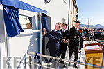 An Taoiseach Enda Kenny unveils a plaque at the official opening of the Iveragh Coast Guard Station on Monday with Declan Geoghegan, SAR Operations Manager & Tony Donnelly OIC.