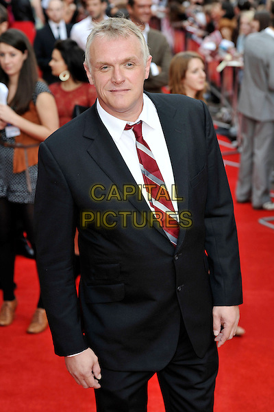 "Greg Davies.""The Inbetweeners Movie"" UK premiere, Vue West End cinema, Leicester Square, London, England..August 16th, 2011.half length black white red tie suit.CAP/MAR.© Martin Harris/Capital Pictures."