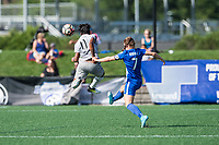 Boston, MA - Saturday June 24, 2017: Taylor Smith and Emilie Haavi during a regular season National Women's Soccer League (NWSL) match between the Boston Breakers and the North Carolina Courage at Jordan Field.