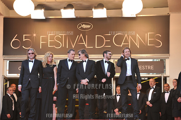 "Brad Pitt, Ray Liotta & director Andrew Dominik at the gala screening of their new movie ""Killing Them Softly"" in competition at the 65th Festival de Cannes..May 22, 2012  Cannes, France.Picture: Paul Smith / Featureflash"