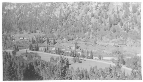 Elevated view of RGS Vance Junction facilities from Keystone Hill.<br /> RGS  Vance Junction, CO  Taken by Maxwell, John W. - 1951