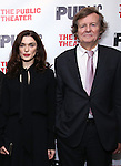 """Rachel Weisz and David Hare during the Off-Broadway Opening Night performance party for """"Plenty""""  at the Public Theatre on October 20, 2016 in New York City."""