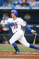 April 15, 2009:  Third Baseman Zachary Zach Lutz (28) of the St. Lucie Mets, Florida State League Class-A affiliate of the New York Mets, during a game at Tradition Field in St. Lucie, FL.  Photo by:  Mike Janes/Four Seam Images