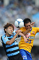 Yu Kobayashi (Frontale), Naoya Tamura (Vegalta),.MAY 26, 2012 - Football / Soccer :.2012 J.League Division 1 match between Kawasaki Frontale 3-2 Vegalta Sendai at Todoroki Stadium in Kanagawa, Japan. (Photo by Hitoshi Mochizuki/AFLO)