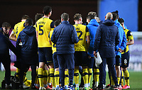 4th February 2020; Kassam Stadium, Oxford, Oxfordshire, England; English FA Cup Football; Oxford United versus Newcastle United; Karl Robinson Manager of Oxford encourages his team at the break in extra time