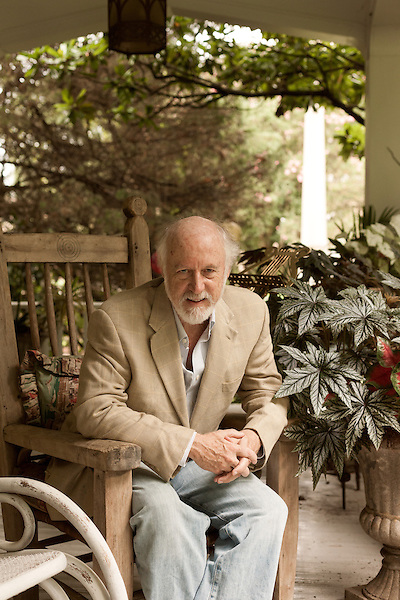"""August 19, 2013. Hillsborough, North Carolina.<br />  Author Allan Gurganus, photographed at his home, has a new novel """"Local Souls"""" being released in September."""