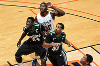 SAN ANTONIO, TX - NOVEMBER 17, 2012: The University of South Carolina Upstate Spartans versus the University of Texas at San Antonio Roadrunners Men's Basketball at the UTSA Convocation Center. (Photo by Jeff Huehn)
