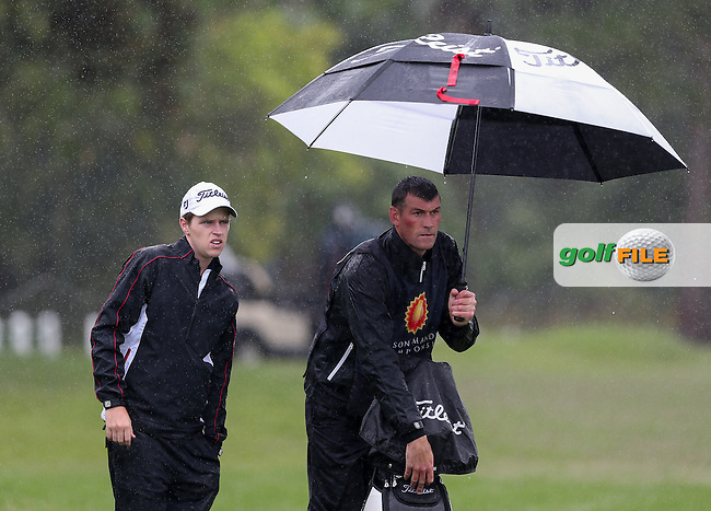 Kevin Phelan (IRL) added four bogeys to the card and no birdies in dire wet and windy conditions during Round One of The Nelson Mandela Championship 2013 presented by ISPS Handa, at the Mount Edgecombe Country Club, KwaZulu-Natal, South Africa. Picture:  David Lloyd / www.golffile.ie