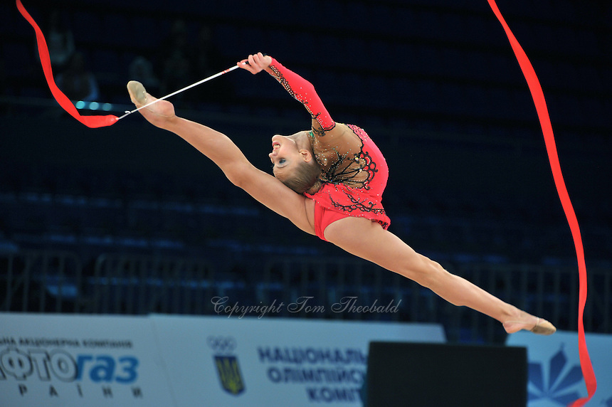 "ELIZAVETA NAZARENKOVA of Russia performs at 2011 World Cup Kiev, ""Deriugina Cup"" in Kiev, Ukraine on May 7, 2011."