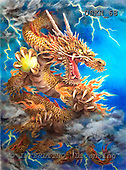 Kayomi, REALISTIC ANIMALS, paintings, dragon, GoldenDragon_M, USKH68,#A# realistische Tiere, realista, illustrations, pinturas