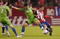 The Seattle Sounders defeated CD Chivas USA 3-1 during a MLS match closing out the Chivas USA season at Home Depot Center stadium in Carson, California on October 22, 2011.