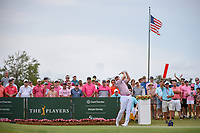 Jimmy Walker (USA) watches his tee shot on 1 during round 4 of The Players Championship, TPC Sawgrass, at Ponte Vedra, Florida, USA. 5/13/2018.<br /> Picture: Golffile | Ken Murray<br /> <br /> <br /> All photo usage must carry mandatory copyright credit (&copy; Golffile | Ken Murray)