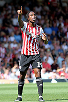 Romaine Sawyers of Brentford during Brentford vs Rotherham United, Sky Bet EFL Championship Football at Griffin Park on 4th August 2018