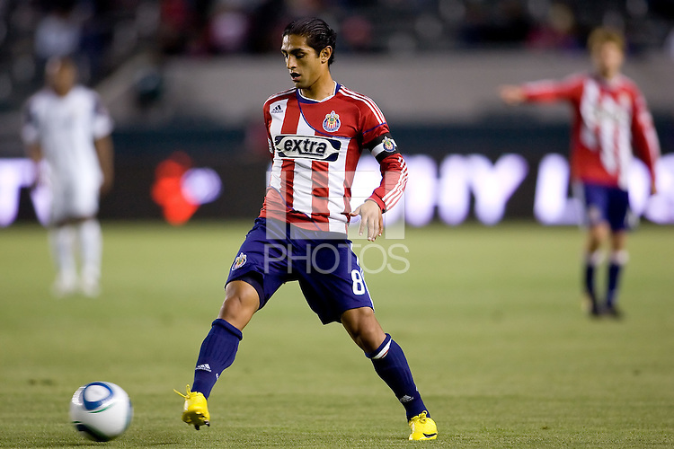 Chivas USA defender and Captain Mariano Trujillo (8) passes off the ball. Real Salt Lake defeated CD Chivas USA 2-1at Home Depot Center stadium in Carson, California on Saturday May 22, 2010.  .