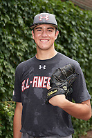 Joe Boyle (25) of North Oldham High School in Goshen, Kentucky poses for a photo before the Under Armour All-American Game presented by Baseball Factory on July 23, 2016 at Wrigley Field in Chicago, Illinois.  (Mike Janes/Four Seam Images)
