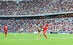 Stockholm 2014-07-28 Fotboll Superettan Hammarby IF - Assyriska FF :  <br /> Vy &ouml;ver Tele2 Arena under matchen mellan Hammarby och Assyriskas <br /> (Foto: Kenta J&ouml;nsson) Nyckelord:  Superettan Tele2 Arena Hammarby HIF Bajen Assyriska AFF supporter fans publik supporters