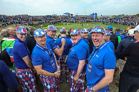 Brits abroad during Friday's Fourballs, at the Ryder Cup, Le Golf National, Îls-de-France, France. 28/09/2018.<br /> Picture David Lloyd / Golffile.ie<br /> <br /> All photo usage must carry mandatory copyright credit (© Golffile | David Lloyd)