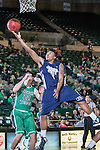 Jackson State Tigers guard Dundrecous Nelson (5) in action during the game between the Jackson State Tigers and the North Texas Mean Green at the Super Pit arena in Denton, Texas. UNT defeats Jackson State 83 to 65...